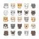 Cartoon Cats and Dogs with Different Emotions - GraphicRiver Item for Sale