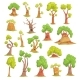 Tree Characters Set, Funny Humanized Trees