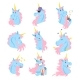 Unicorn Characters with Different Emotions - GraphicRiver Item for Sale