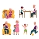 Grandparent Spending Time with Grandchildren - GraphicRiver Item for Sale