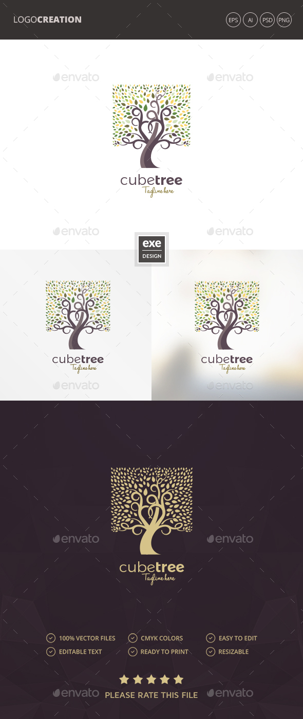 GraphicRiver Tree Logo 20666673
