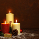 candle with christmas decorations - PhotoDune Item for Sale