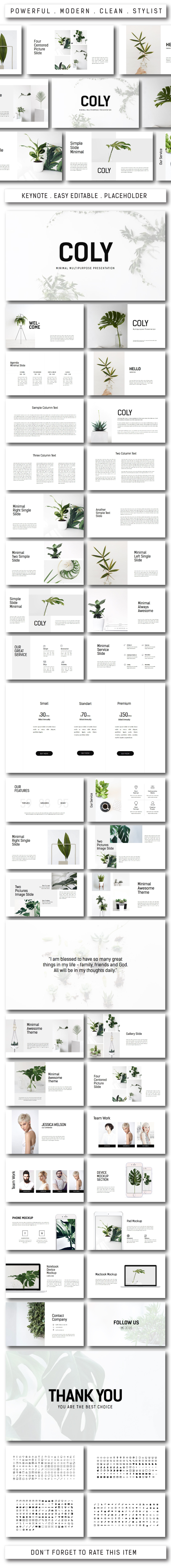 Coly Multipurpose Keynote - Keynote Templates Presentation Templates