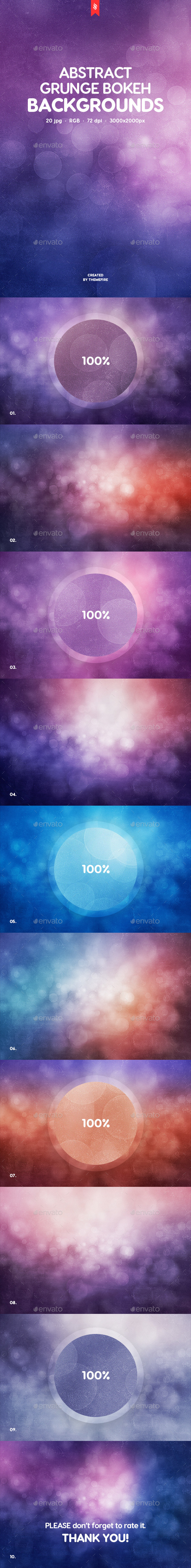 10 Grunge Bokeh Backgrounds - Backgrounds Graphics