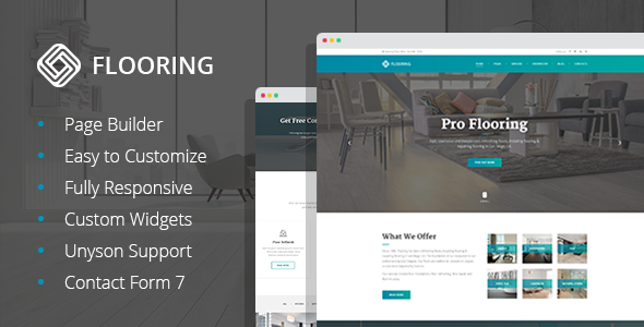 Flooring - Floor Repair/Refinish WordPress Theme - Business Corporate