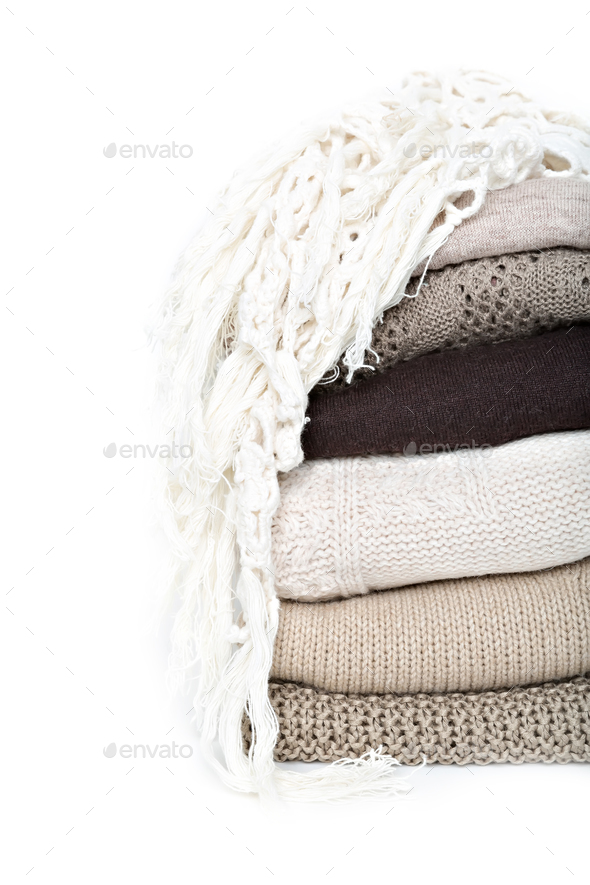 Stack of sweaters - Stock Photo - Images