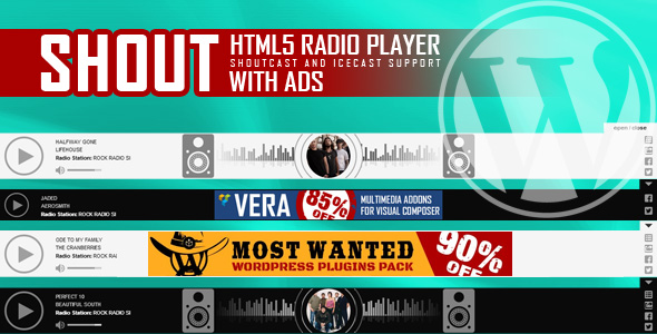 SHOUT - HTML5 Radio Player With Ads - ShoutCast and IceCast Support - WordPress Plugin - CodeCanyon Item for Sale