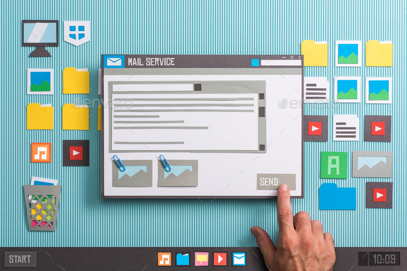 E-Mail service - Stock Photo - Images