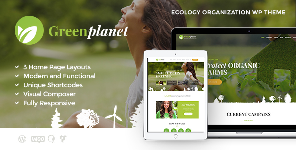 Green Planet | Environmental Non-Profit Organization WordPress Theme - Environmental Nonprofit