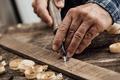 Carpenter carving wood - PhotoDune Item for Sale