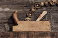 Old wood planer and shavings - PhotoDune Item for Sale