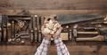 Carpenter holding wood shavings - PhotoDune Item for Sale