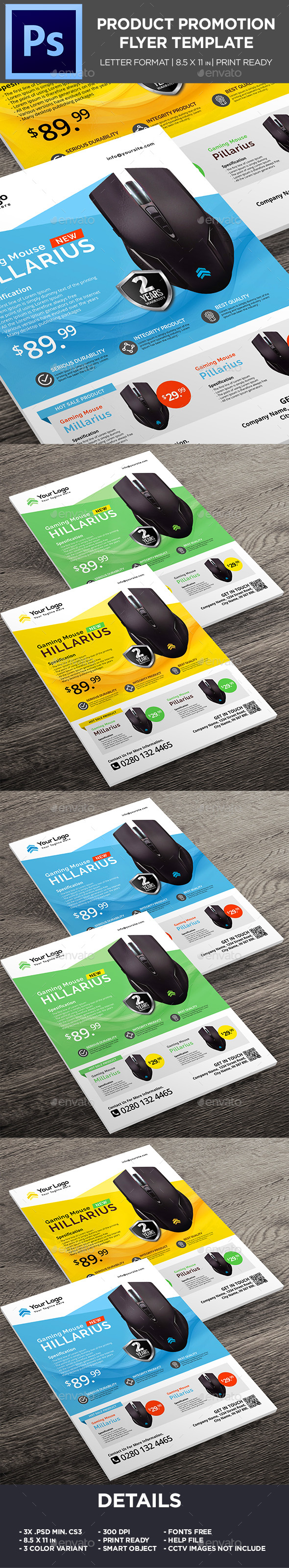 Product Flyer -  Mouse Gaming Promotion Flyer - Corporate Flyers