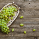 Close up view of ripe green grapes. Background of ripe grapes - PhotoDune Item for Sale