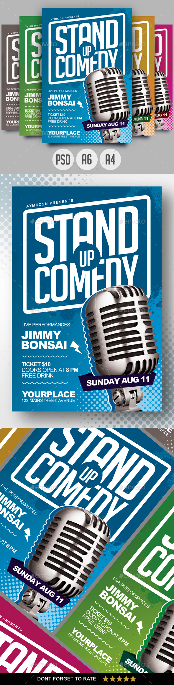 GraphicRiver Stand Up Comedy Flyer 20667565