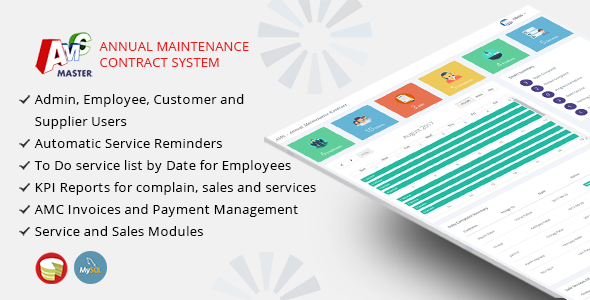 AMC Master – Annual Maintenance Contract Management System - CodeCanyon Item for Sale