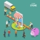 Mobile Store Flat Isometric Low Poly Vector Concept - GraphicRiver Item for Sale