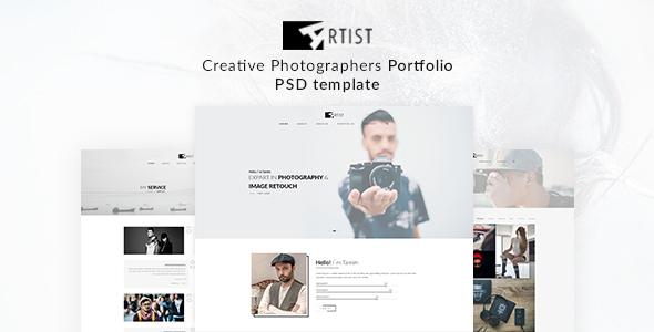 Artist Portfolio PSD Template