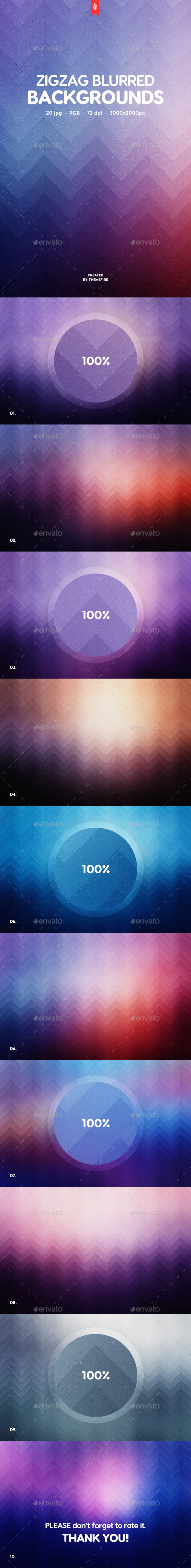 Zigzag Blurred Backgrounds - Backgrounds Graphics