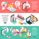 Isometric E-Commerce Banners Set