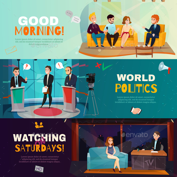 GraphicRiver Talk Show Banners 20667923