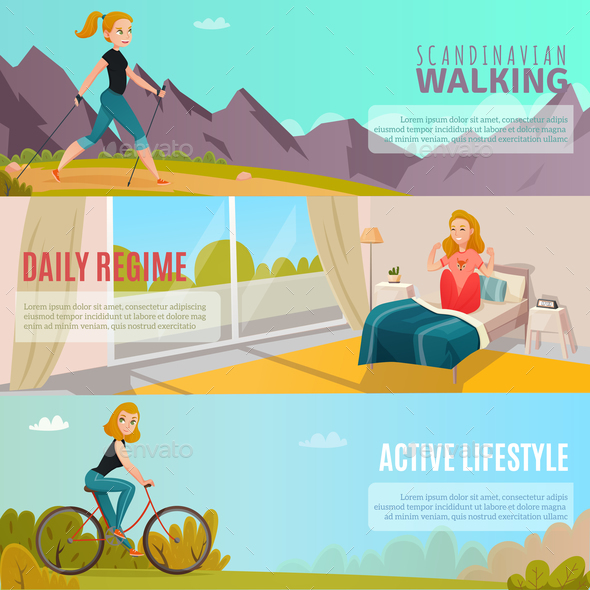 Healthy Lifestyle Banners - Sports/Activity Conceptual