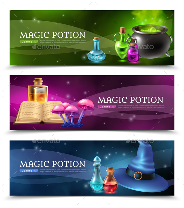 Magic Potion Banners - Business Conceptual