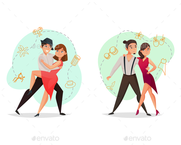 GraphicRiver Pair Dance 2 Templates Set 20667953
