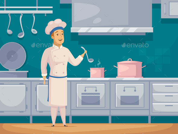 GraphicRiver Ship Cook Cartoon Character Banner 20667971