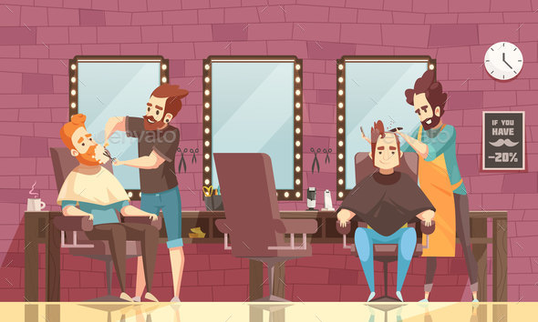 Barbershop Background Illustration - Backgrounds Decorative