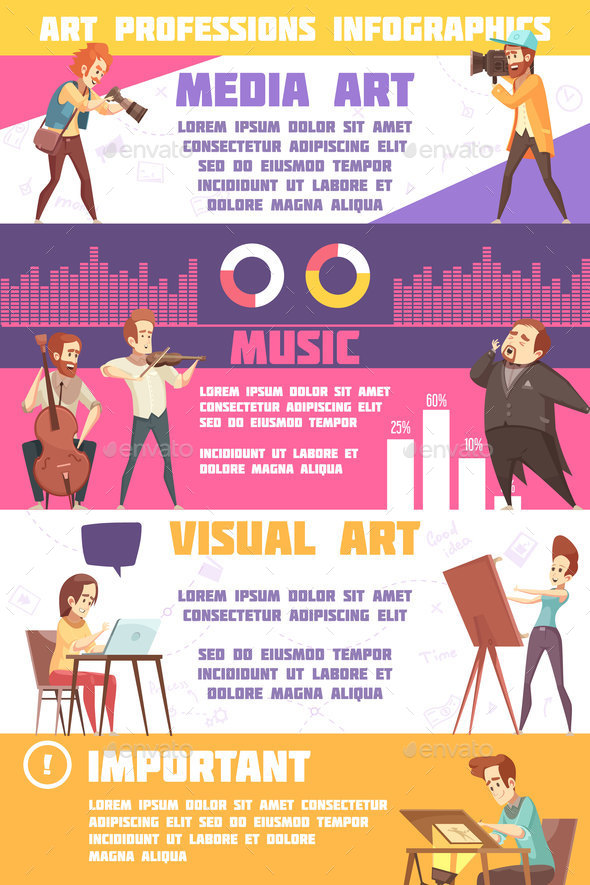 Art Professions Infographic Set - Business Conceptual