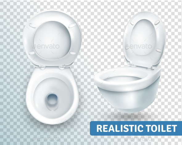 GraphicRiver Toilet Bowl Realistic Set 20667977