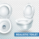 Toilet Bowl Realistic Set