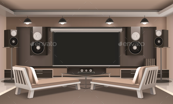 GraphicRiver Modern Home Theater Interior 20667983