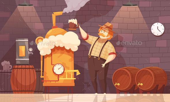 GraphicRiver Beer Brewer Vector Illustration 20667999
