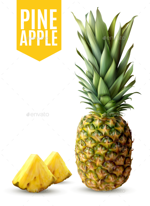 GraphicRiver Realistic Pineapple Illustration 20668002