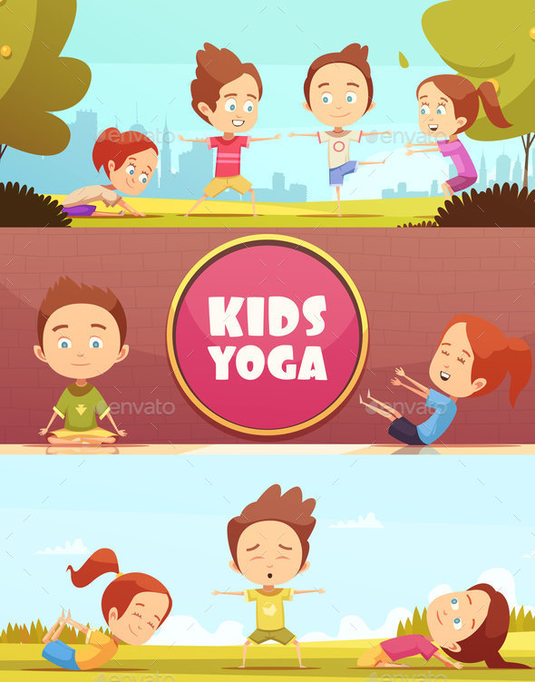 GraphicRiver Kids Yoga Horizontal Banners 20668023