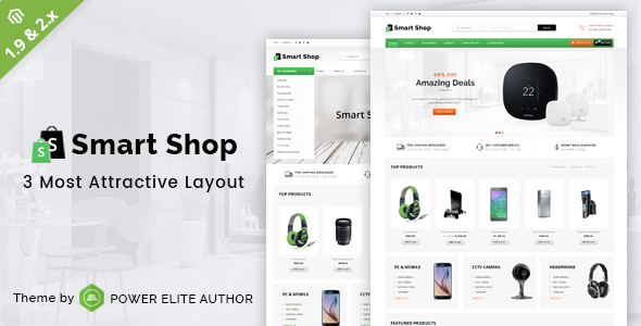 ThemeForest Smart Shop Responsive Magento 1 & 2 Theme 20668051