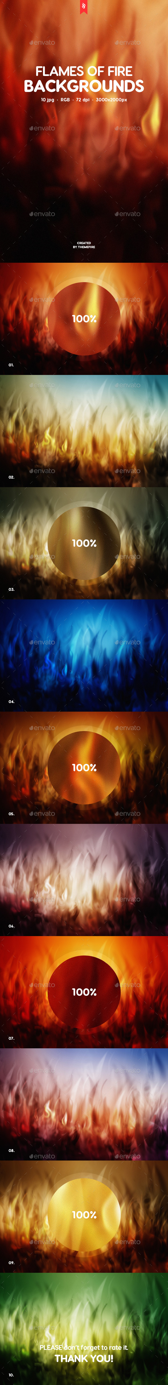 Flames of Fire Backgrounds - Backgrounds Graphics