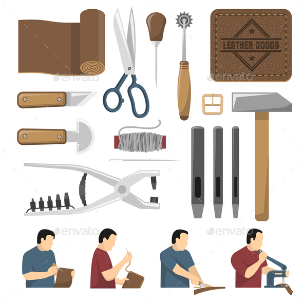 Skinner Tools Decorative Icons Set - Man-made Objects Objects