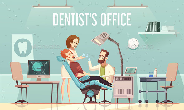 GraphicRiver Dentists Office Illustration 20668100