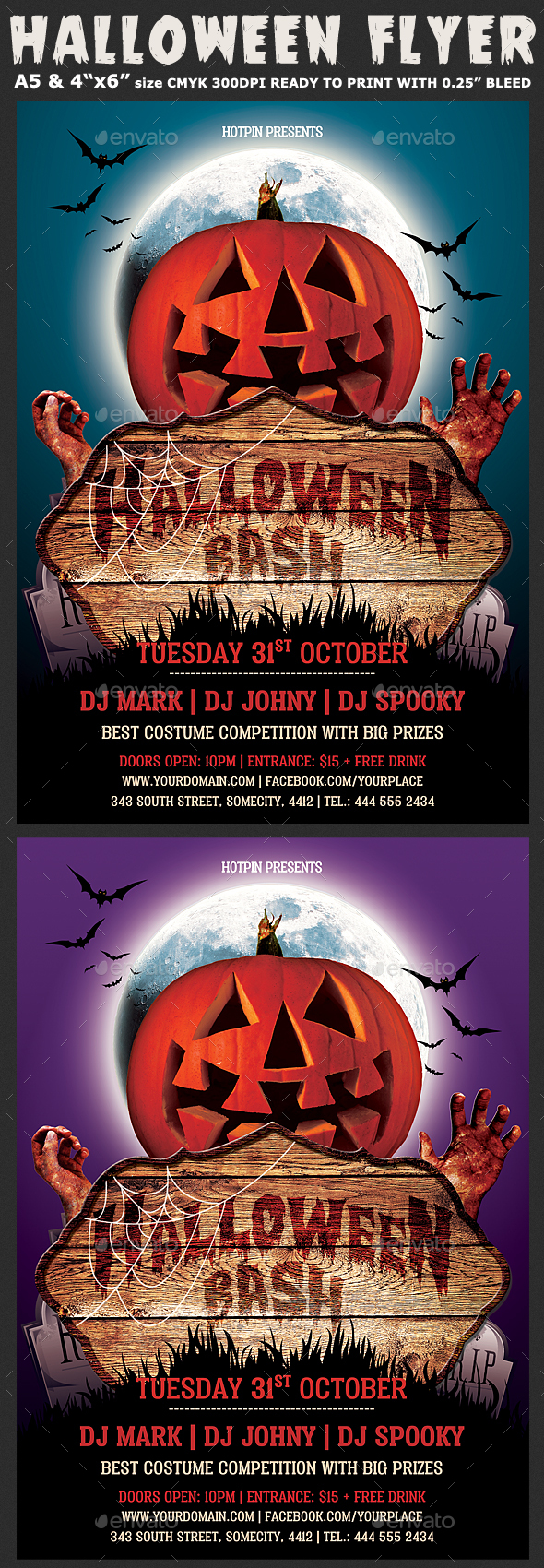 Halloween Party Psd Flyer Template - Clubs & Parties Events
