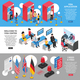 Visa Center Banners Set - GraphicRiver Item for Sale
