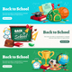 Back to School Horizontal Banners - GraphicRiver Item for Sale