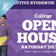 College Open House Flyer Templates - GraphicRiver Item for Sale
