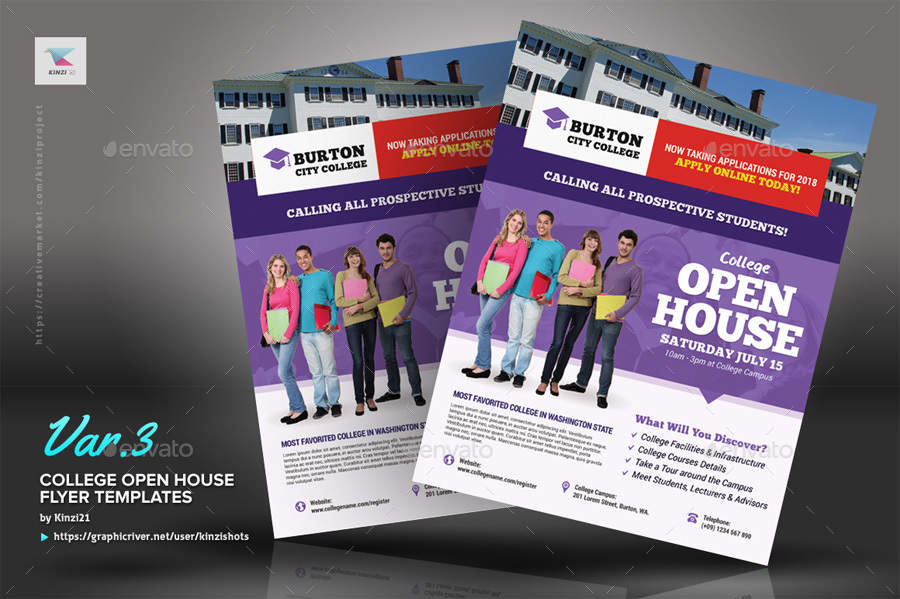 Screenshots/01_graphic River College Open House Flyer Templates Kinzi21  Screenshots/02_graphic River College Open House Flyer Templates Kinzi21  ...  Open House Flyer Template