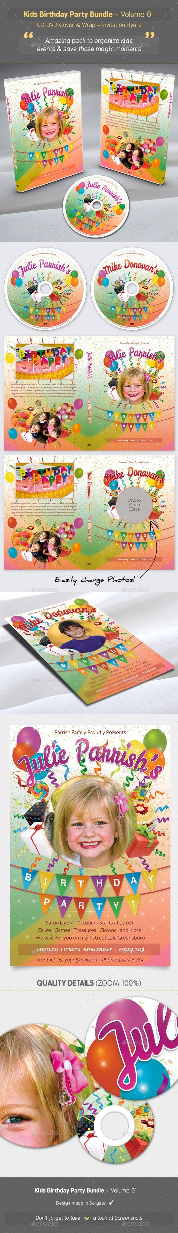 GraphicRiver Kids Birthday Party Bundle Volume 01 20668382