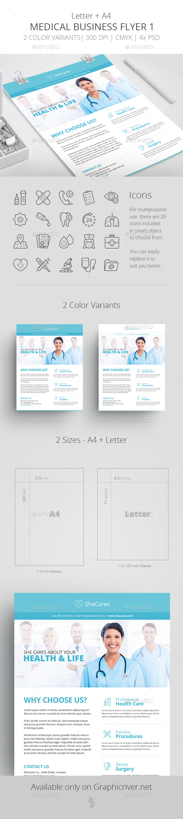 Medical Business Flyer Template 1 - Corporate Flyers