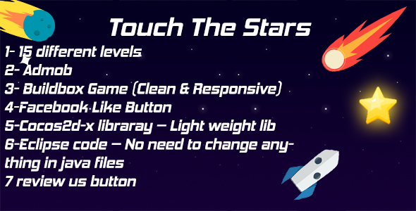 CodeCanyon Touch the stars Android Game Admob& Graphic files Eclipse Project 20668450