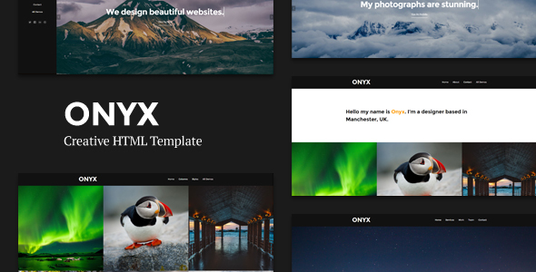 Onyx - Creative Responsive Minimal HTML Template